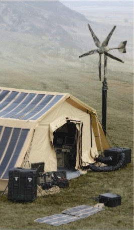 Total Shelter Solution with Shelter powered by Solar, Wind, Fuel Cell and lastly Engine Generator